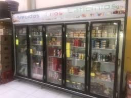 Refrigerador gelopar 5 portas semi novo top