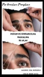 Design de Sobrancelha Masculina