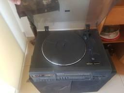 Aparelho de som - Toca Disco Vinil Gradiente com 2 caixas de som