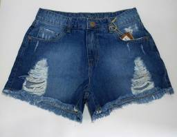 Shorts destroyed feminino jeans