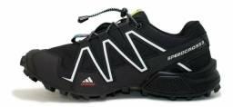 Tênis masculino lançamento Adidas Speed Croos e ganha brinde de presente