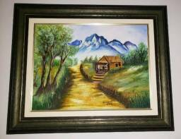 Quadro pintura oleo sobre tela