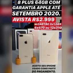 IPhone 8 Plus 64gb com garantia Apple até setembro 2020