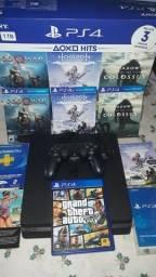 PS4 1TB (toledo)novo com 4 jogos.