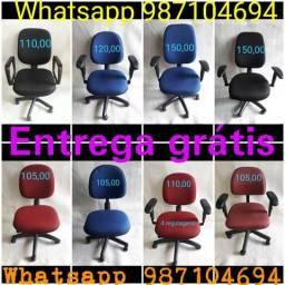 Cadeiras de escritório diretor e secretaria e presidente