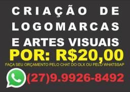 Logomarcas e artes visuais