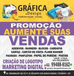 Banner, Gráfica, Cartão de Visita, Panfleto, wind banner, Bandeiras, Fachada, Logomarca