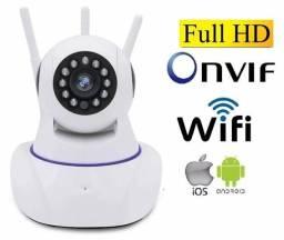 Câmera WiFi 720p HD Infravermelho visão noturna controle pelo App celular ou computador.