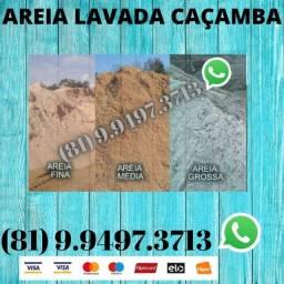 Caçamba de Areia Lavada Direto do Areeiro 012174188168247