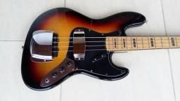Baixo sx sjb75c 3ts com covers 4 cordas jazz bass