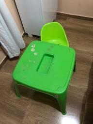 Mesa Verde Infantil + Cadeira