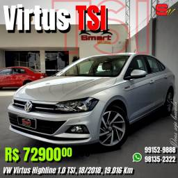 Smart veículos - VW Virtus Highline 1.0 TSI, 18/2018, 19.016 Km. R$ 72.900,00
