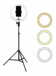 Led Ring Light 30cm Completo + Tripe 2m Iluminador Portatil