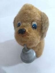 Brinquedo Antigo Cachorrinho A Corda Toca Sineta Anos 60