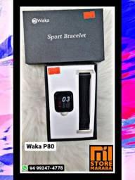 Smartwatch bom e barato, notificações em lembretes, a prova d'água.