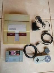 Super Nintendo antigo relíquia com jogos só ligar e jogar LEIA