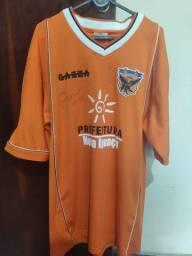 Camisa do Nova Iguaçu F.C Oficial 2005 Usada e Autografada pelo Zinho