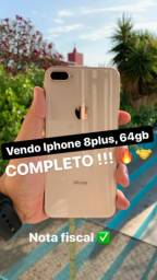 iPhone 8 Plus 64 gb completo nota fiscal