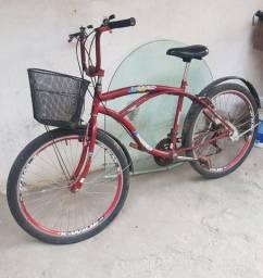 Título do anúncio:  Vendo Bicicleta Sami Beach masculina 26 com nota fiscal.