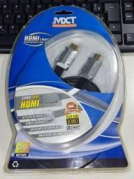 Título do anúncio: cabo hdmi mxt versão 1.4 Full HD 1080 0,9 mt