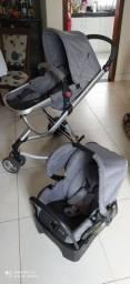 Vendo carrinho com bebê conforto Mobi