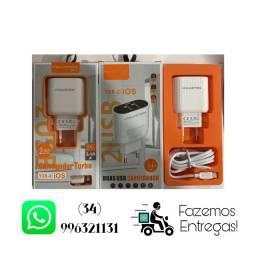 Carregador Hmaston - V8/Tipo C/iPhone