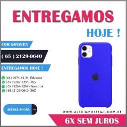 Capa Capinha Silicone iPhone11 Azul-Safira Barata Lançamento