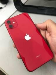 Título do anúncio: iPhone 11 red 64gb