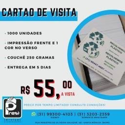 Cartão de visita preço promocional