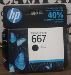 Título do anúncio: Cartucho Original HP 667 preto