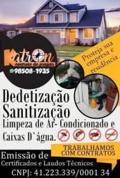 Título do anúncio: detetização Controle de pragas Sanitização dedetização