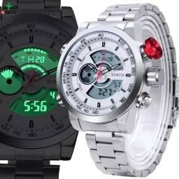 ?Relógio Masculino Em Aço Inoxidável