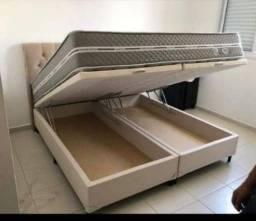 Base de cama box comum e baú