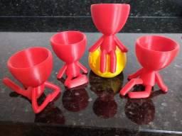 vasos robert decorativo kit com 4 vermelho