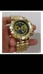 Título do anúncio: Relógio Invicta Masculino  New Hybrid / Catraca Giratório  Pulseira  Aço  Dourado