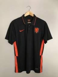 Título do anúncio: Camisa Holanda preta 20/21 M