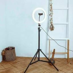 Título do anúncio: Ring Light Iluminador Led 26cm Tripé 2m Youtuber Maquiagem