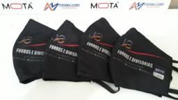 Mascaras Personalizadas Proteção Respiratória Lavável 3 Camadas Tecido