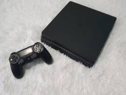 Título do anúncio: PS4 Slim 1TB - 1 controle e 15 Jogos