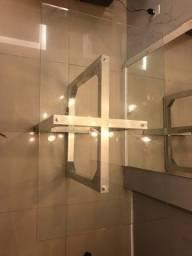 Título do anúncio: Mesa tampo de vidro base de inox