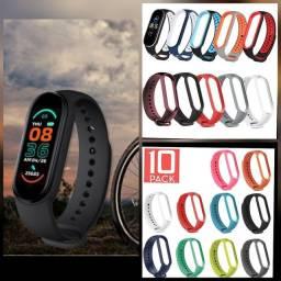 Promoção relógio smartwatch m5 m6 com pulseira extra