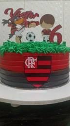 Bolo decorado do Flamengo