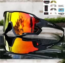 Óculos Ciclismo Mtb Polarizada/transparente 5 Lentes + Adaptador de Grau (Varias Cores)