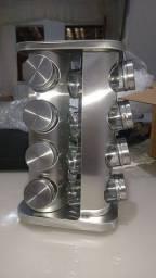Título do anúncio: Porta tempero inox com 16 potes com a base giratória