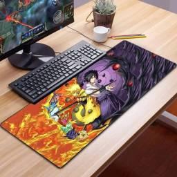 Mousepad Gamer Extra Grande Naruto e Sasuke 70 cm x 30 cm