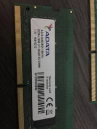 Memória ram 2x8gb (16gb) ddr4 - 2400ghz - adata