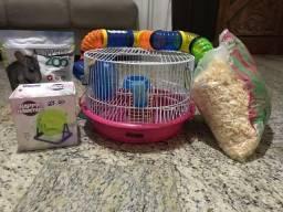 Vende gaiola Hamster com túnel colorido, razão etc