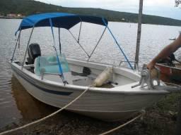 Barco marajó + motor mercury 60 (semi-novo) - 2016