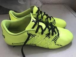 eee302ffe21 Chuteira Futsal Adidas X 15 4 IN Masculina Verde Claro Aceito Trocas