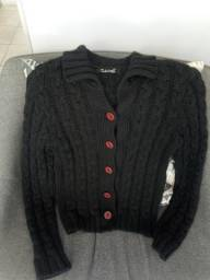 Lindo casaco preto P/M